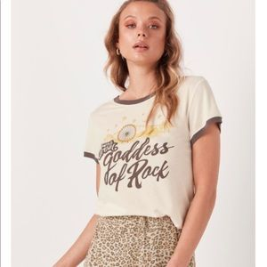 Spell and the Gypsy Goddess kid Rock Tee in Bone